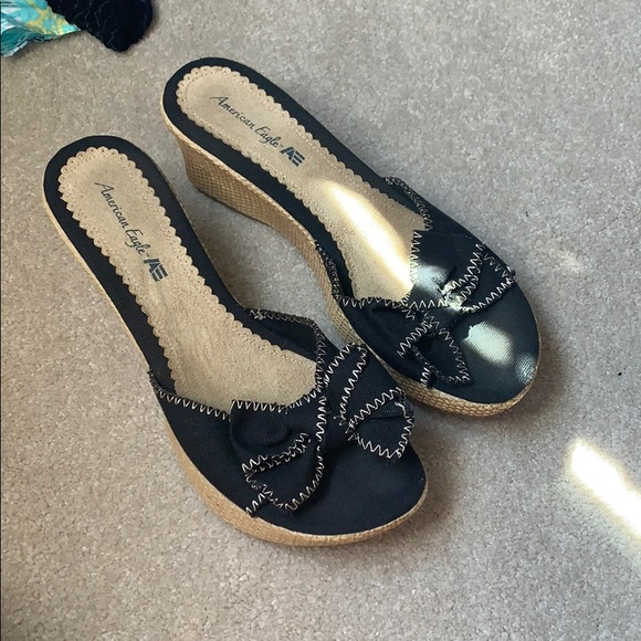American Eagle Outfitters Shoes - American eagle black wedges